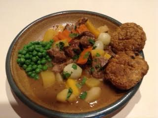 Lamb Stew w: Irish soda bread, peas