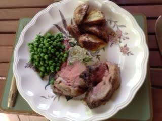 Roast lamb w: Bordeaux