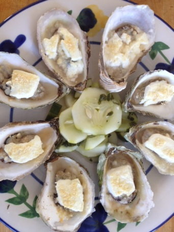 Baked Oyster with Cheese