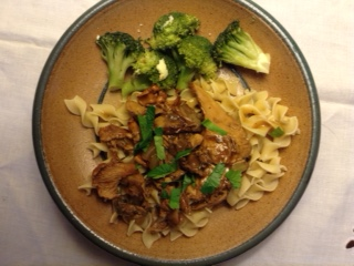 Leftover Pheasant over Noodles