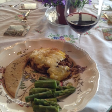 Mousaka with Hockar Wine