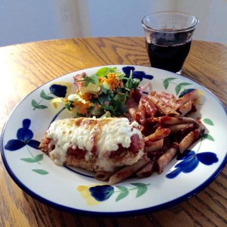 Chicken Parmegiana & Multipulciano