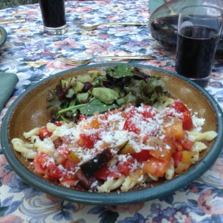 Pasta with Uncooked Tomatoes