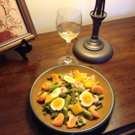 Springtime Salad with Vin de Savoie