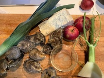Oyster & Blue Cheese Pie (ingredients)